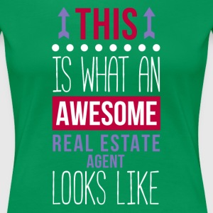 Awesome Real Estate Agent Professions T-shirt Women's T-Shirts - Women's Premium T-Shirt