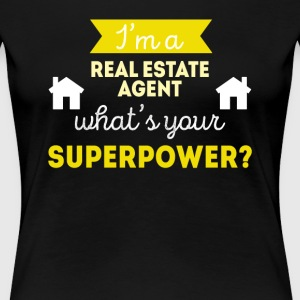 Real Estate Agent Superpower Professions T-shirt Women's T-Shirts - Women's Premium T-Shirt