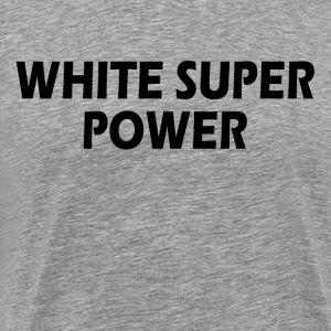 White Super Power T-Shirts - Men's Premium T-Shirt
