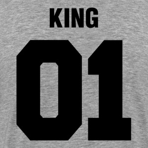 King 01 Wedding Couple Man Woman T-Shirts - Men's Premium T-Shirt
