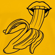 open peeled banana eating delicious sexy hot blow  T-Shirts