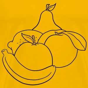 various fruits many fruit banana apple lemon orang T-Shirts - Men's Premium T-Shirt