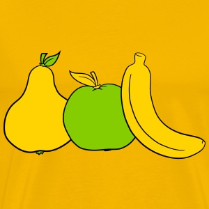 various fruits many fruits banana apple pear peach T-Shirts - Men's Premium T-Shirt