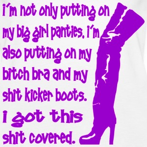 My Big Girl Panties And Shit Kicker Boots  - Women's Premium Tank Top