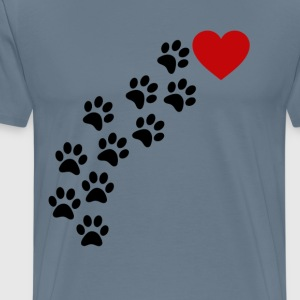 paw_prints_to_my_heart_shirt_ - Men's Premium T-Shirt