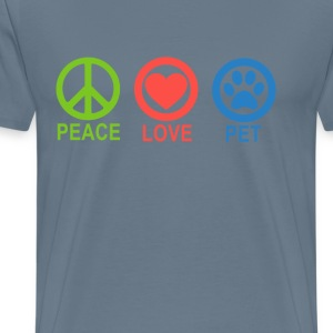 peace_love_pets_ - Men's Premium T-Shirt