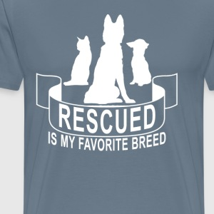 rescued_is_my_favorite_breed_ - Men's Premium T-Shirt