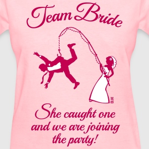 Team Bride Husband Fishing + Saying (Hen Party 2C) - Women's T-Shirt
