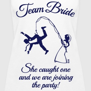 Team Bride Husband Fishing + Saying (Hen Party 1C) - Women's Premium Tank Top