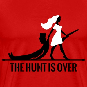 the hunt is over bachelorette bachelor party bride T-Shirts - Men's Premium T-Shirt