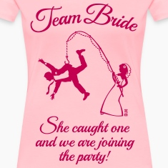 Team Bride Husband Fishing (Hen Party / 1C) Women's T-Shirts
