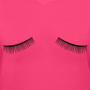 closed eyelashes Shirt - Women's V-Neck T-Shirt