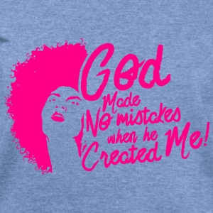 LocStar God Doesn't Make Mistakes - Women's Wideneck Sweatshirt