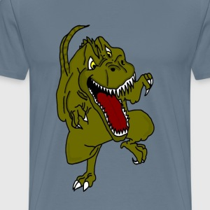 Rampaging Dinosaur - Men's Premium T-Shirt