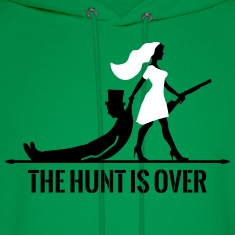 the hunt is over bachelorette bachelor party bride Hoodies