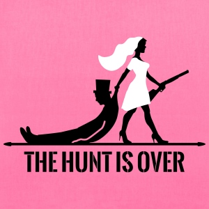 the hunt is over bachelorette bachelor party bride Bags & backpacks - Tote Bag