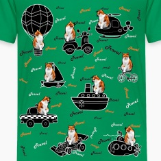"""Travel cat"" Kids' Premium T-Shirt."