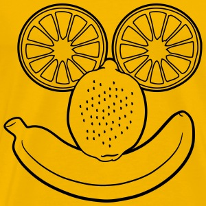 fruits banana lemon orange face funny T-Shirts - Men's Premium T-Shirt