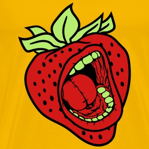 strawberry mouth screaming horror monster hallowee T-Shirts - Men's Premium T-Shirt
