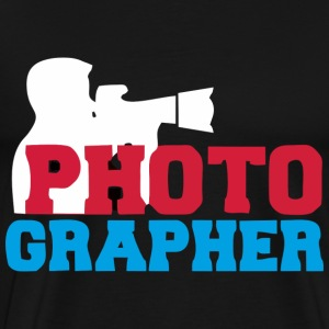 Photographer Black T-shirt Man - Men's Premium T-Shirt