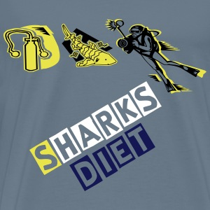 sharks diet - Men's Premium T-Shirt