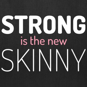 Strong New Skinny Gym Quote Bags & backpacks - Tote Bag