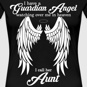 My Aunt Is My Guardian Angel Women's T-Shirts - Women's Premium T-Shirt