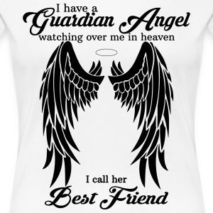 My Best Friend Is My Guardian Angel Women's T-Shirts - Women's Premium T-Shirt