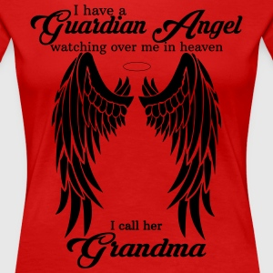 My Grandma  Is My Guardian Angel she Watches Over Women's T-Shirts - Women's Premium T-Shirt