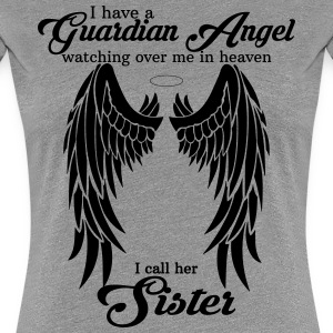 My Daughter Is My Guardian Angel She Watches Over Women's T-Shirts - Women's Premium T-Shirt