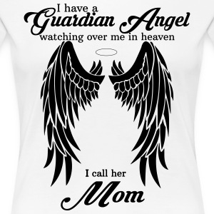 My Mom Is My Guardian Angel she Watches Over My B Women's T-Shirts - Women's Premium T-Shirt