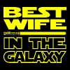 BEST WIFE IN THE GALAXY - funny star wars - Women's Premium T-Shirt