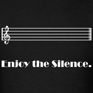 Enjoy the Silence (dark) T-Shirts - Men's T-Shirt