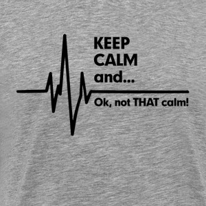 Keep Calm EKG EMS Paramedic T-Shirts - Men's Premium T-Shirt