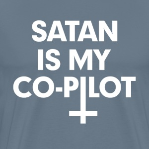 Satan is my co-pilot T-Shirts - Men's Premium T-Shirt