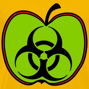 biohazard toxic poisoned apple pesticidal disease  T-Shirts - Men's Premium T-Shirt