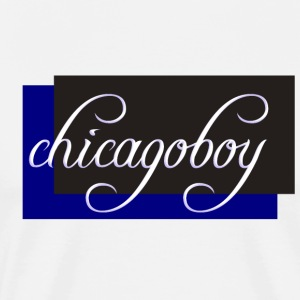 Chicagoboy - I love Techno - Men's Premium T-Shirt