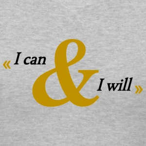 I can & I will grey v-neck - Women's V-Neck T-Shirt