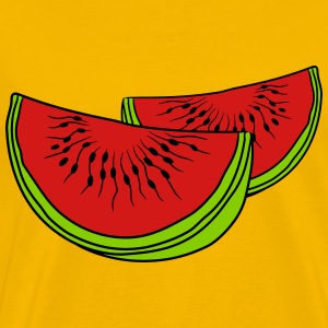 melon slices 2 pieces few watermelon eating delici T-Shirts - Men's Premium T-Shirt
