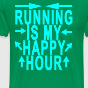 running_is_my_happy_hour_ - Men's Premium T-Shirt