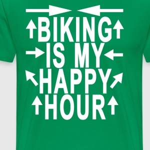 biking_is_my_happy_hour_ - Men's Premium T-Shirt