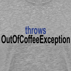 Coffee Exception T-Shirts - Men's Premium T-Shirt