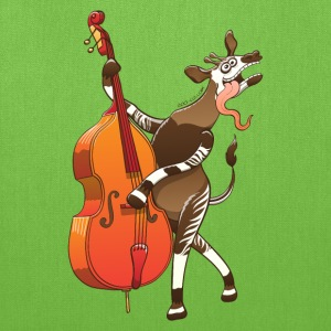 Cool Okapi Playing Double Bass Bags & backpacks - Tote Bag