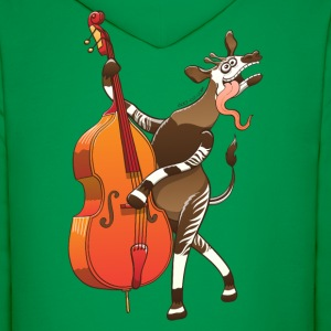 Cool Okapi Playing Double Bass Hoodies - Men's Hoodie