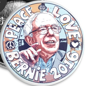 Groovy Peace Love Bernie - Large Buttons