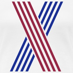X Stripes 2C Women's T-Shirts
