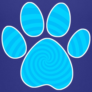Dog Paw Print, Blue Spiral - Kids' Premium T-Shirt