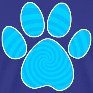 Dog Paw Print, Blue Spiral - Men's Premium T-Shirt