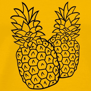 2 holiday pineapple group team tasty food T-Shirts - Men's Premium T-Shirt