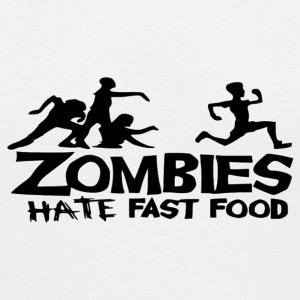 Zombies Hate Fast Food Women's T-Shirts - Women's V-Neck T-Shirt
